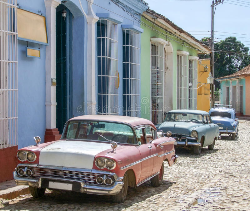Carros clássicos em Cuba fotos de stock royalty free