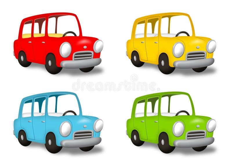 Carros coloridos ilustração do vetor