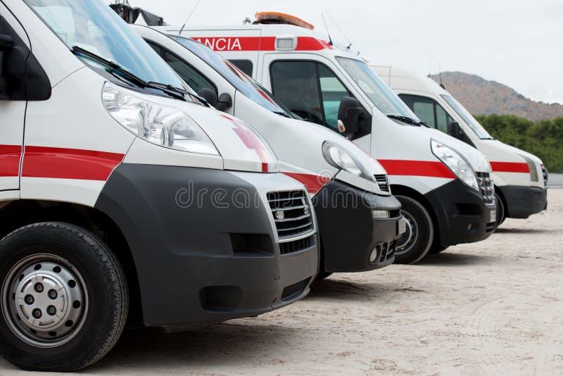 Carros da ambulância fotografia de stock royalty free