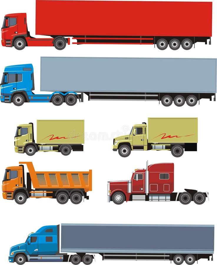 Carros da carga ilustração royalty free