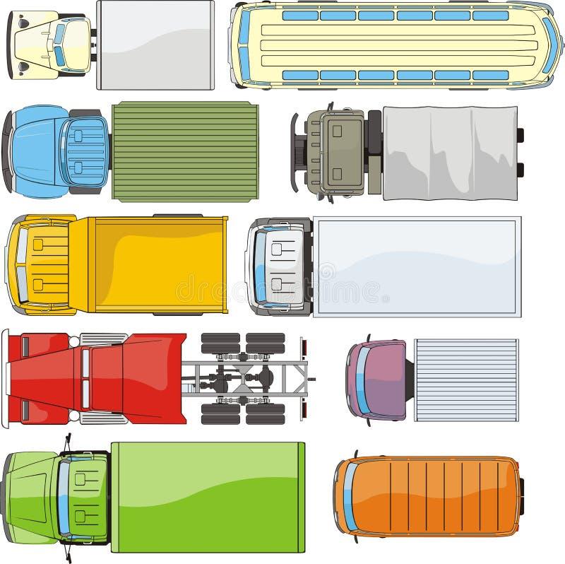 Carros da carga overhand ilustração royalty free