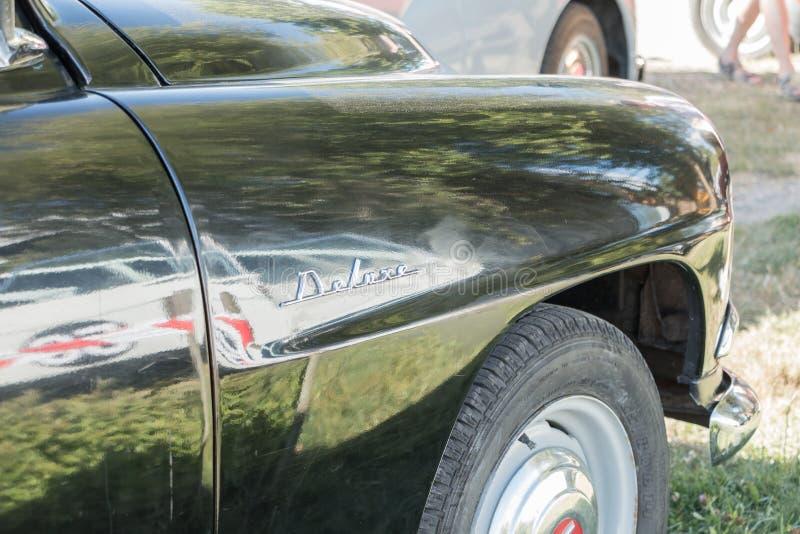Carros da coleção para a feira automóvel do vintage fotografia de stock