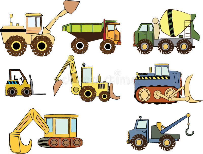 Carros da construção imagens de stock