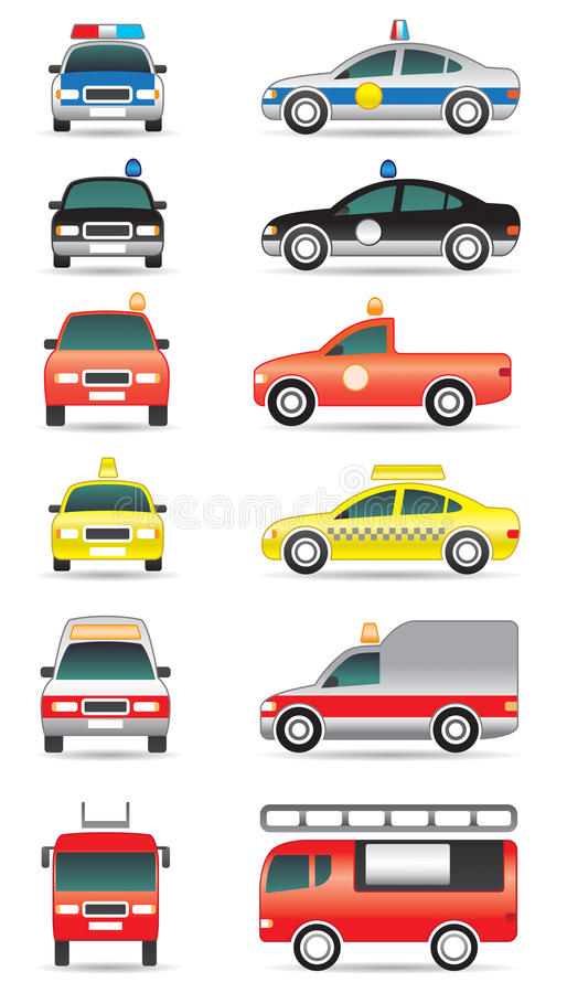 Carros da finalidade especial ilustração do vetor