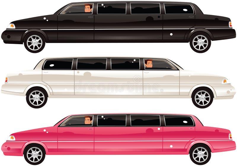 Carros da limusina ilustração do vetor