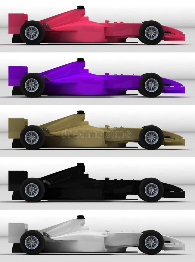 Carros de competência ilustração royalty free