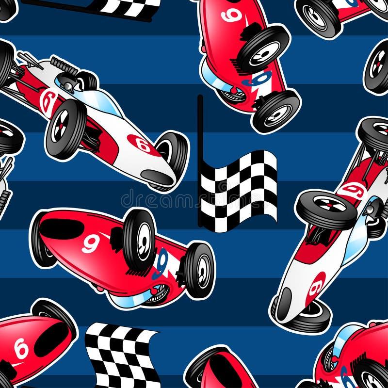 Carros de competência com listras azuis. ilustração royalty free