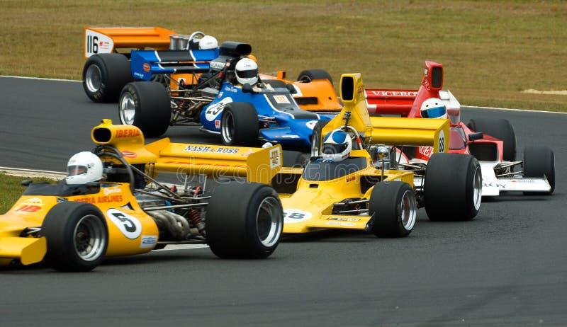 Carros de competência F5000 clássicos imagens de stock