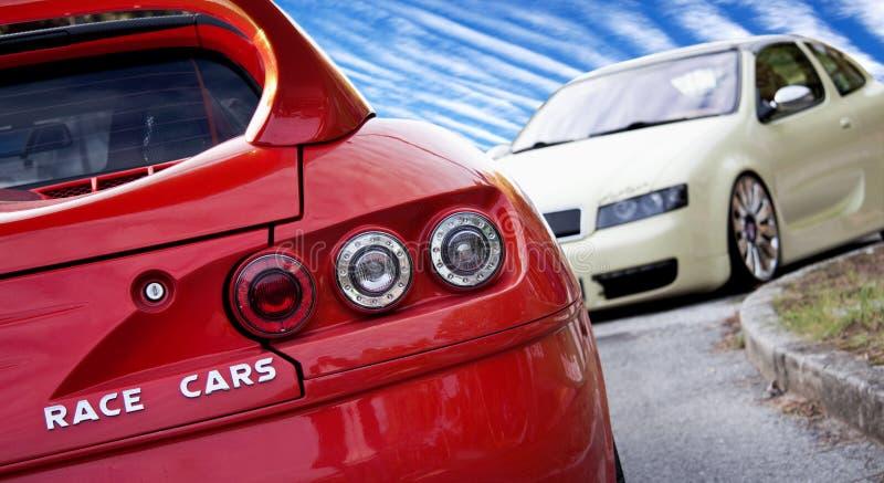 Carros de corridas fotografia de stock