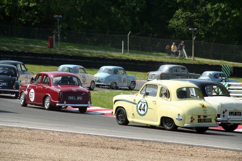 Carros de corridas históricos imagens de stock royalty free