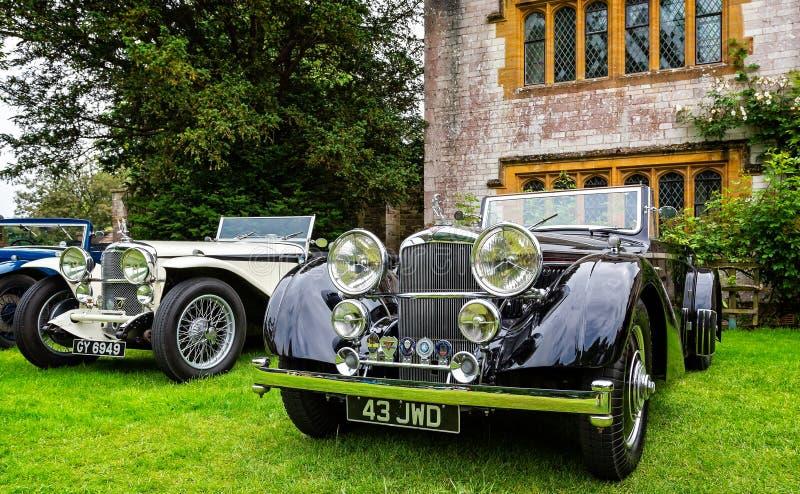 Carros de esportes luxuosos de Alvis do vintage imagem de stock