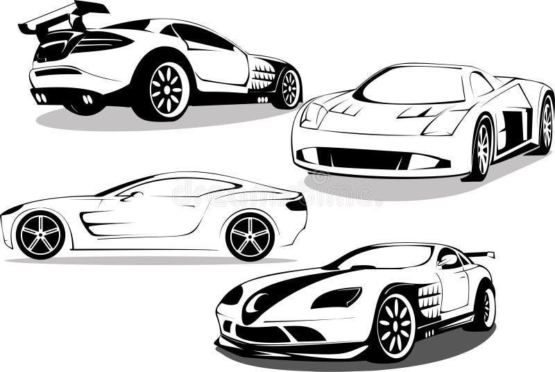 Carros de esportes prestigiosos ilustração stock