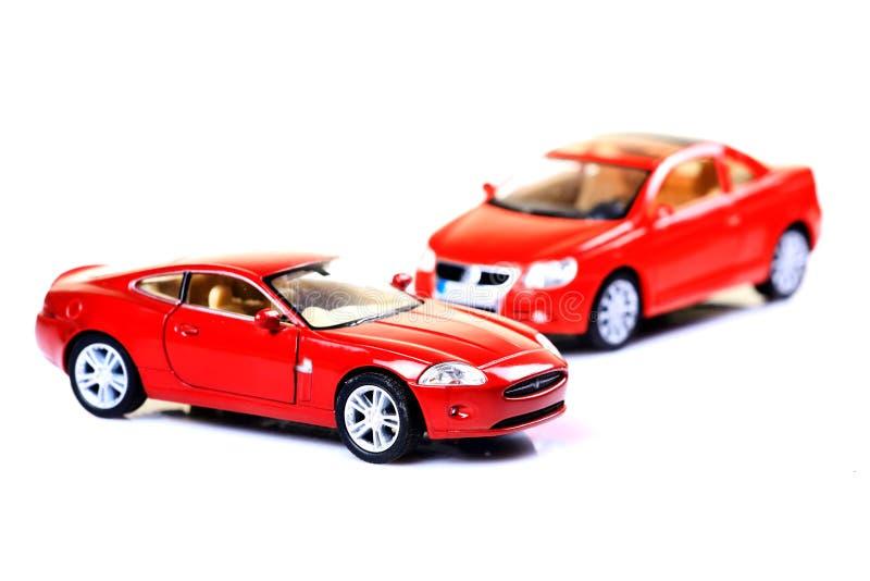 Carros de esportes vermelhos imagens de stock