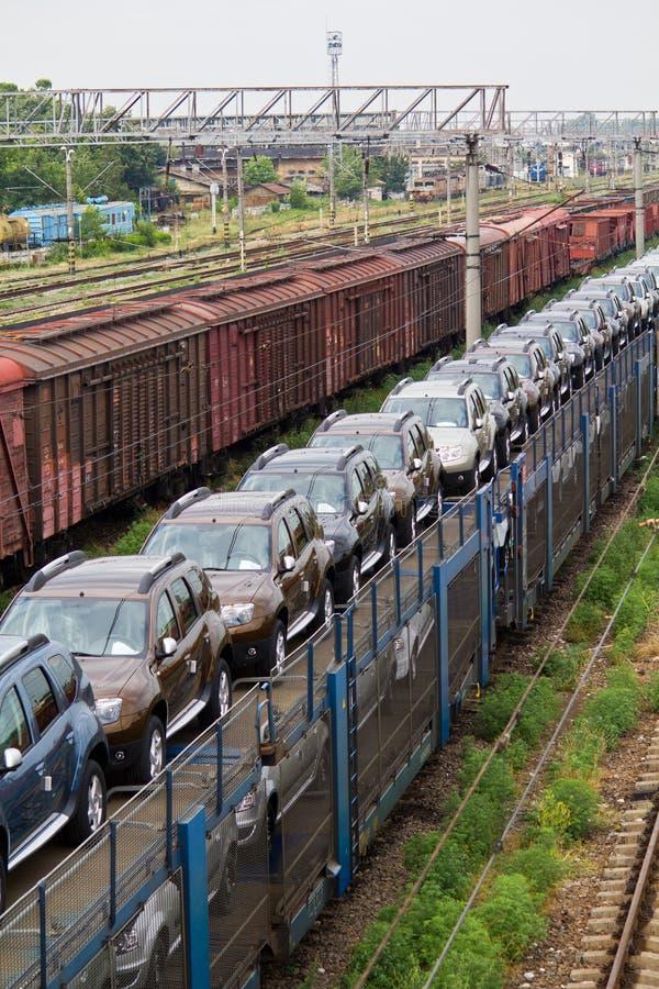 Carros de la mercancía II imagenes de archivo