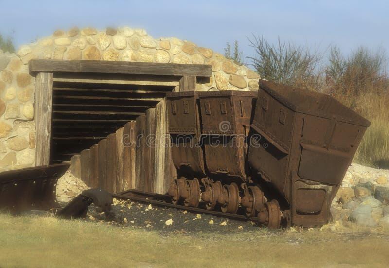Carros de mineração foto de stock