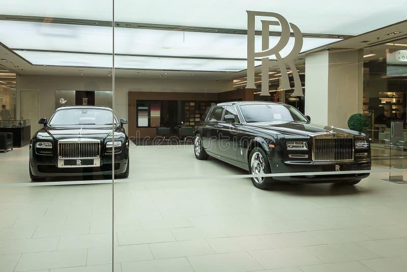 Carros de motor de Rolls royce imagens de stock royalty free