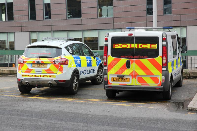 Carros de polícia BRITÂNICOS fotos de stock royalty free