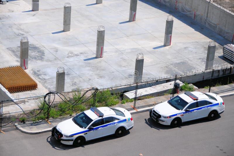 Carros de polícia, Terrebonne, Quebeque, Canadá imagens de stock