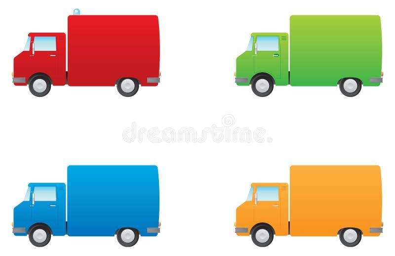 Carros del mantenimiento ilustración del vector