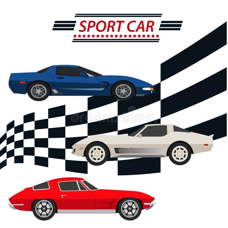 Carros desportivos ilustração do vetor