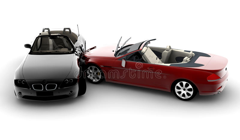 Carros do acidente ilustração do vetor