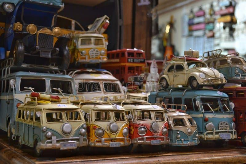 Carros do brinquedo do vintage da coleção fotos de stock royalty free