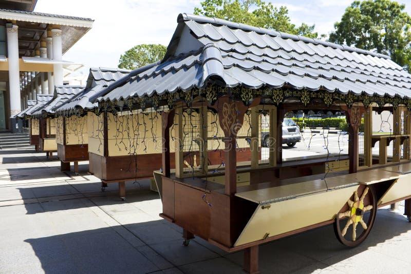 Carros do vendedor do vendedor ambulante, Brunei imagem de stock royalty free