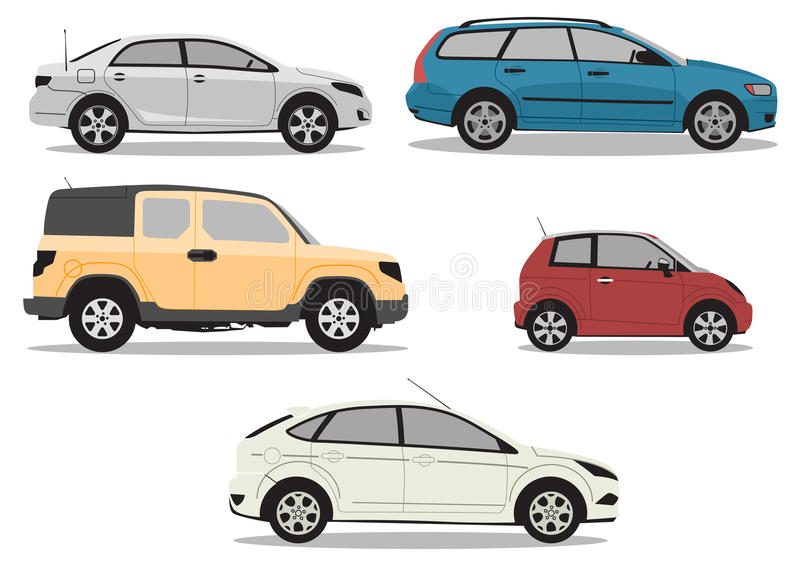 Carros do vetor ilustração stock