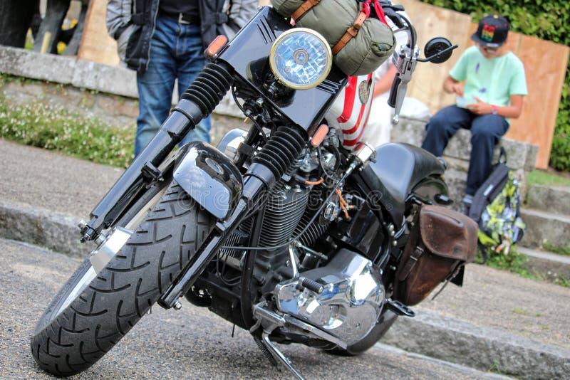 Carros e bicicletas americanos imagens de stock