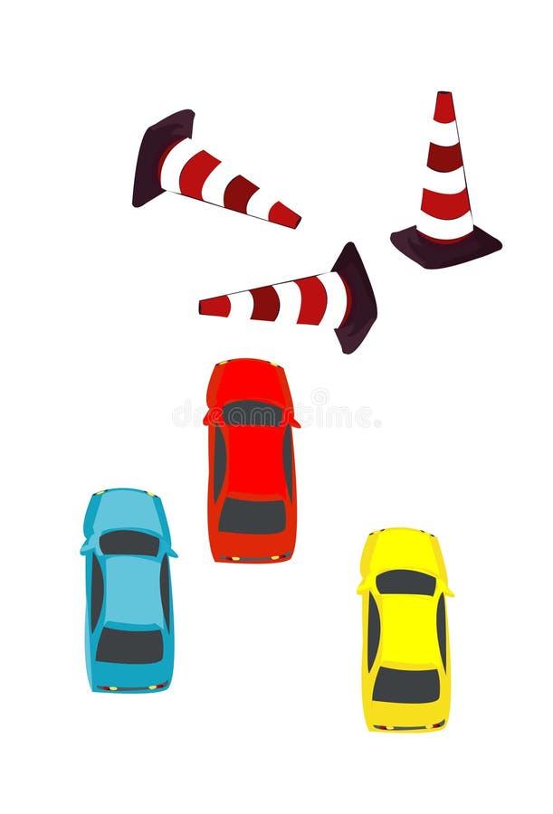Carros e objeto imagem de stock