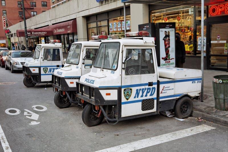 Carros elétricos de NYPD fotos de stock royalty free