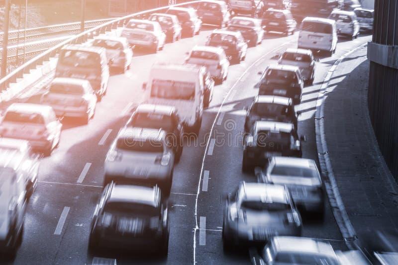 Carros em uma congestão imagem de stock