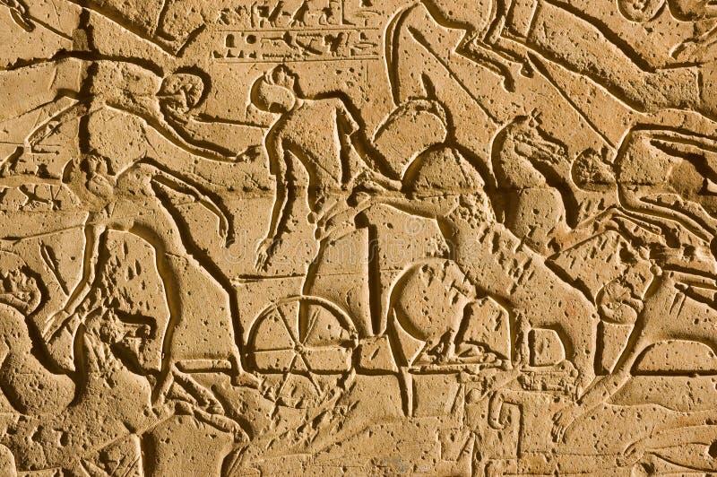 Carros en la batalla de Kadesh, Ramesseum imágenes de archivo libres de regalías