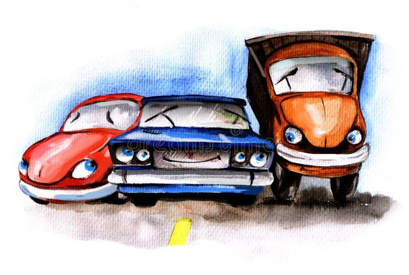 Download Carros engraçados ilustração stock. Ilustração de carro - 12809229