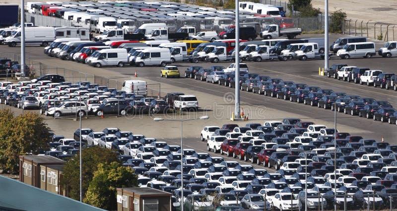 Carros estacionados imagem de stock