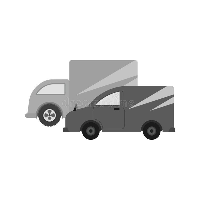 Carros estacionados stock de ilustración