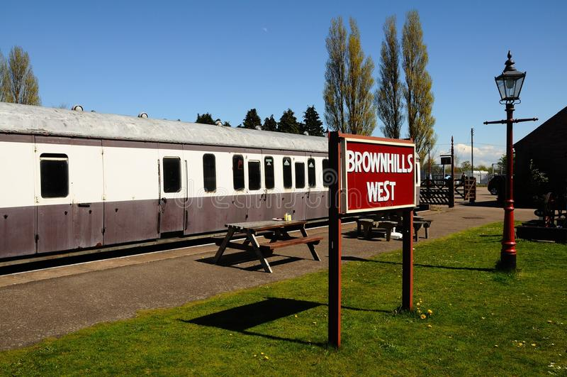 Carros ferroviarios, Brownhills fotografía de archivo