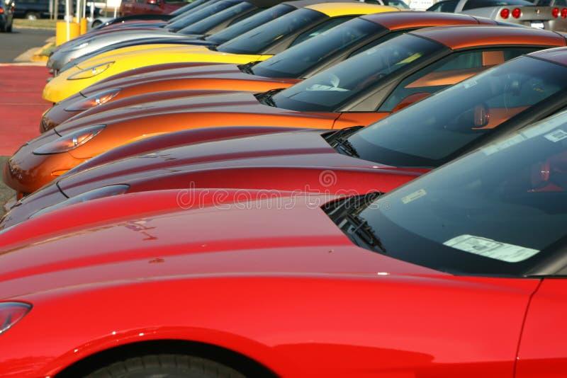 Carros para a venda imagens de stock
