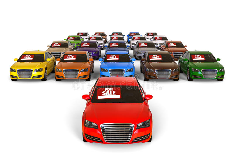 Carros para a venda ilustração royalty free