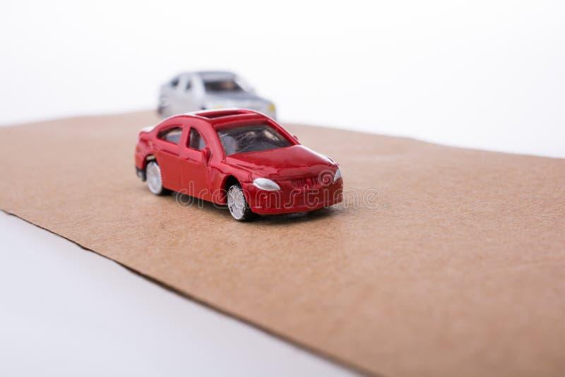 Carros pequenos coloridos do brinquedo foto de stock royalty free