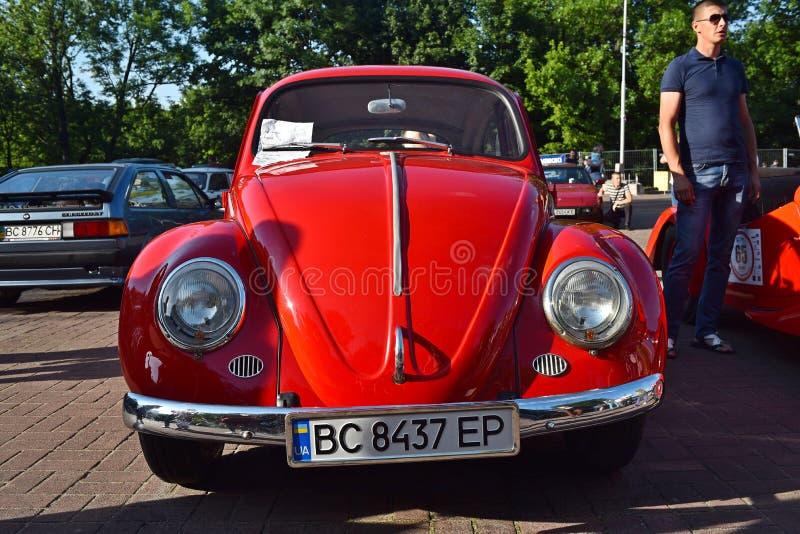Carros retros em Lviv fotografia de stock royalty free