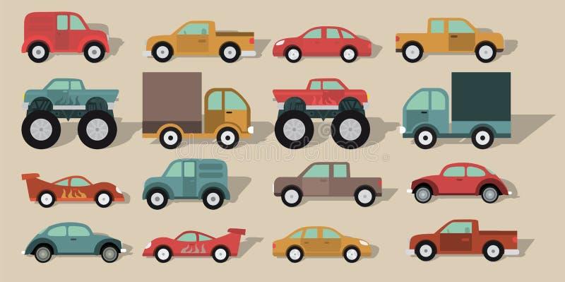 Carros simples ilustração royalty free