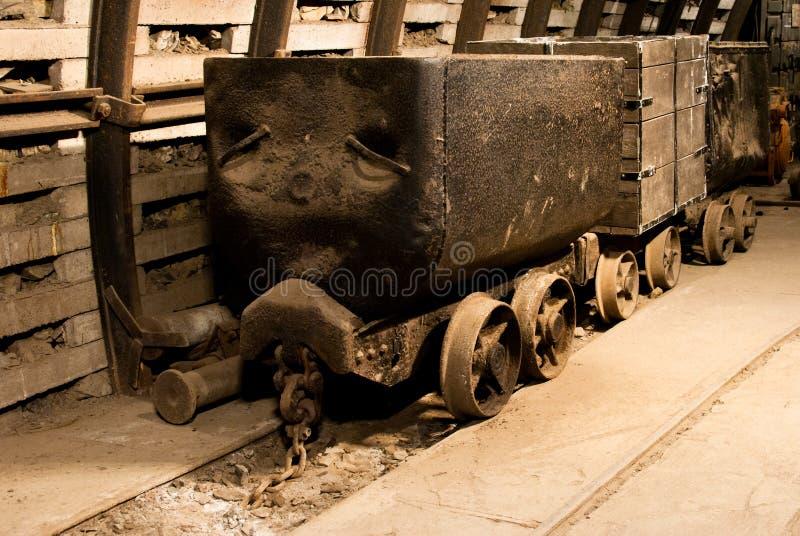 Carros viejos del carbón foto de archivo libre de regalías