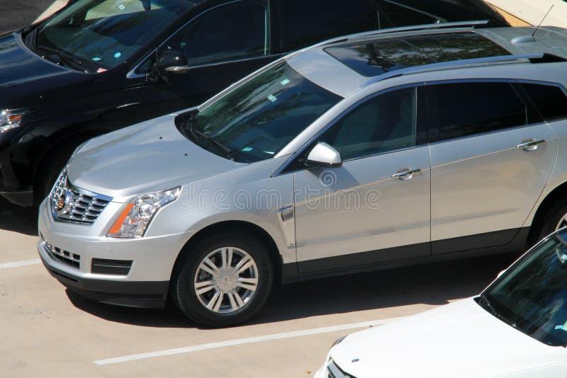 Carros vistos de cima no recurso luxuoso de Key Biscayne foto de stock royalty free