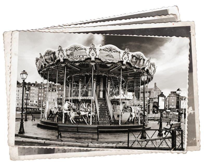 Carrossel das fotos do vintage fotografia de stock