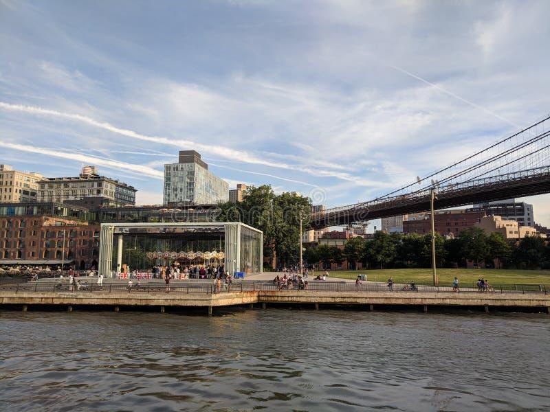 Carrossel Dumbo Brooklyn de Janes fotografia de stock royalty free