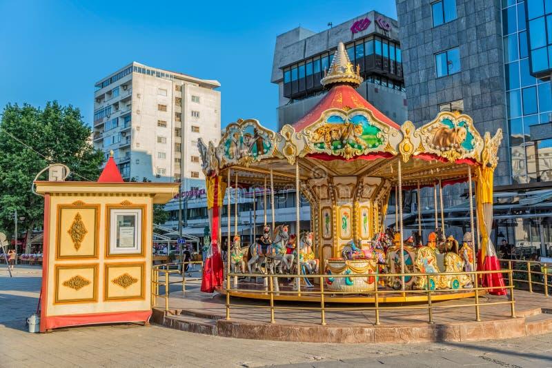 Carrossel em Skopje fotografia de stock royalty free