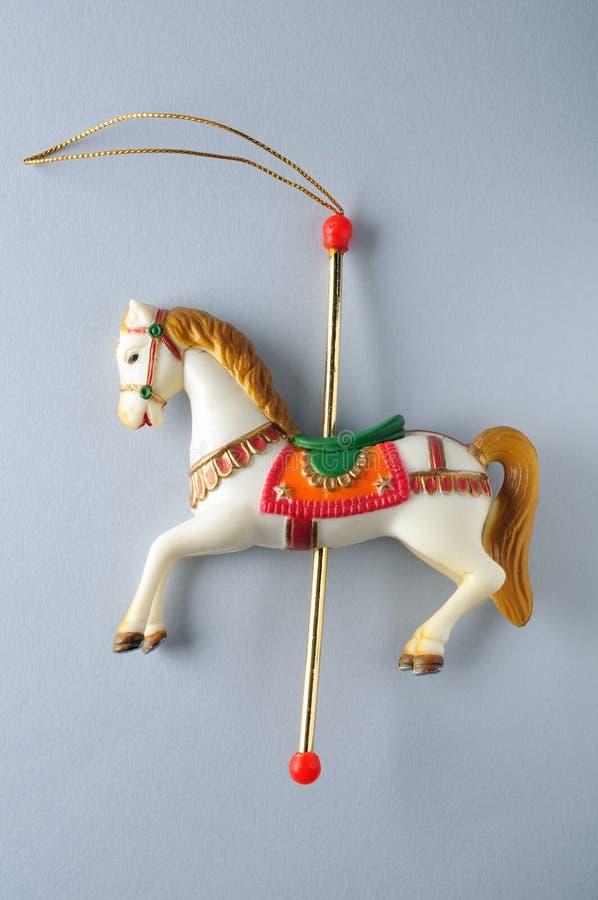 Carrossel Horse.Ornament da árvore de Natal. fotos de stock royalty free