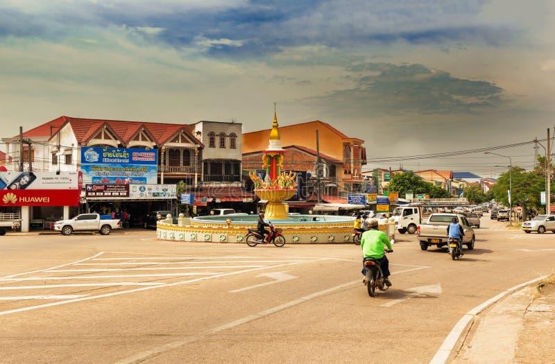 Carrossel na cidade de Thakhek em Laos imagens de stock royalty free