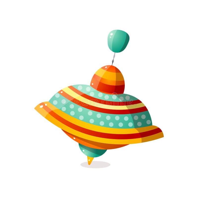 Carrossel pontilhado colorido do metal para o uso do jogo da casa ilustração do vetor